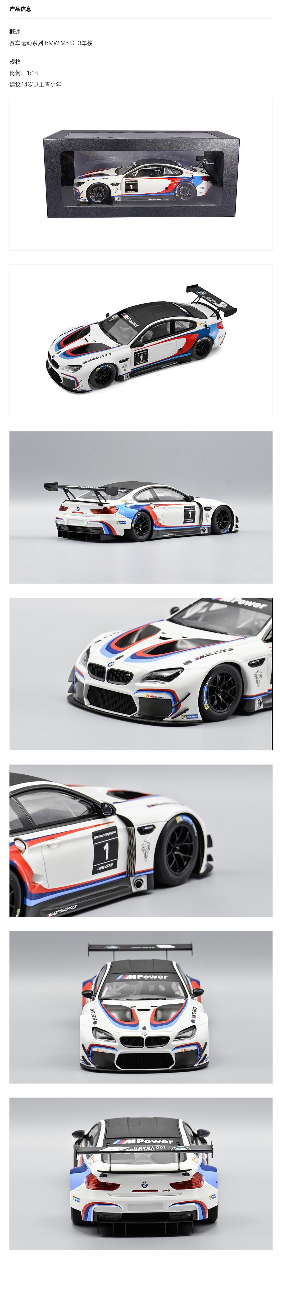 BMW宝马 赛车运动系列 BMW M6 GT3车模